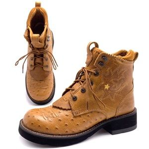 Ariat ProBaby Lace Camel Western Boots